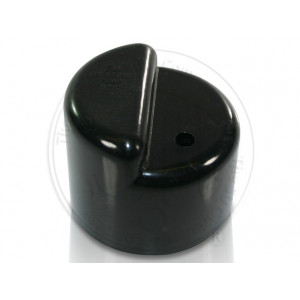 Stepped Top Pump cover. Black With no vent hole.