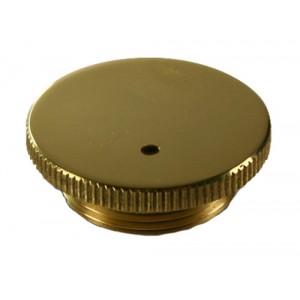 Vented Round Knurled Edge Brass Damper cap