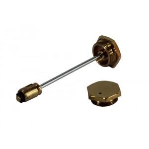 Hexagonal Brass Damper - Vented Cap