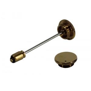 Round Brass Damper -Vented Cap